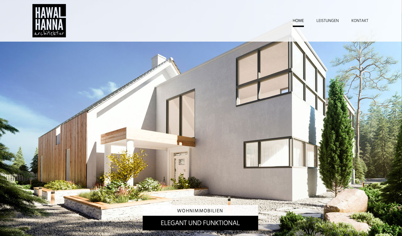 Hawal-Hanna-Architektur Website