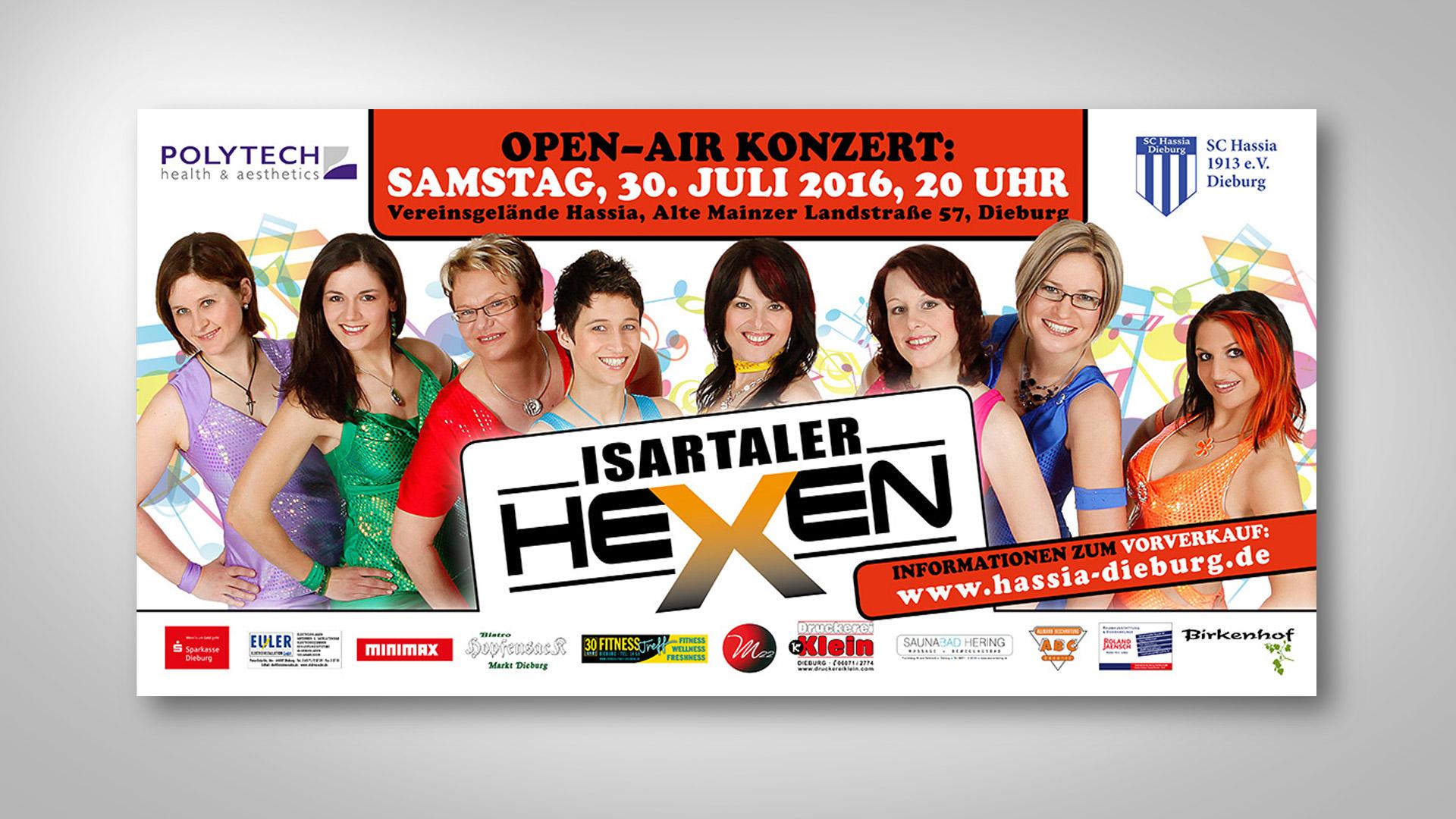 Isartaler-Hexen Banner für den SC Hassia-Dieburg